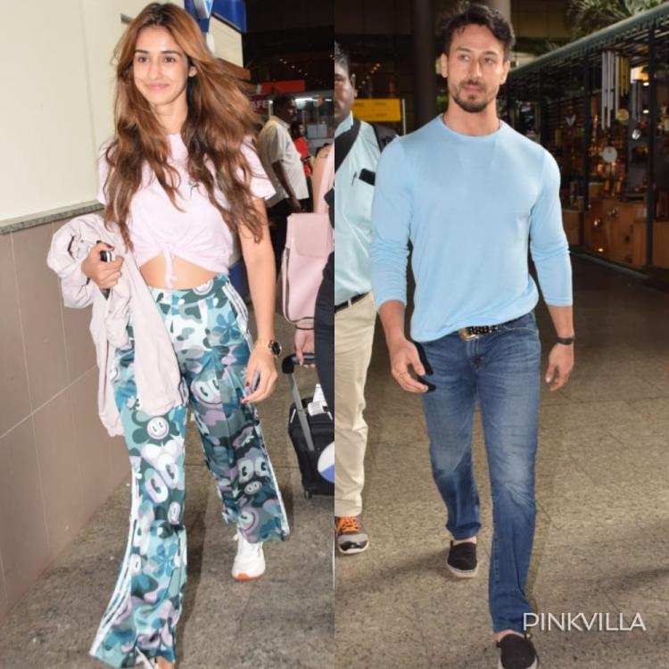 Tiger Shroff & Disha Patani raise the temperature in the town as they get clicked at the airport; View Pics