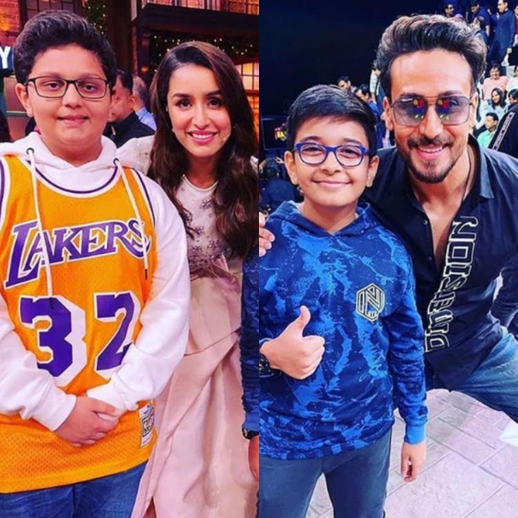 Tiger Shroff, Shraddha Kapoor strike a perfect pose with their little fans on The Kapil Sharma Show; See Pics