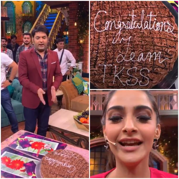 The Kapil Sharma Show: Sonam Kapoor and Anil Kapoor celebrate with the team as it ranks number one