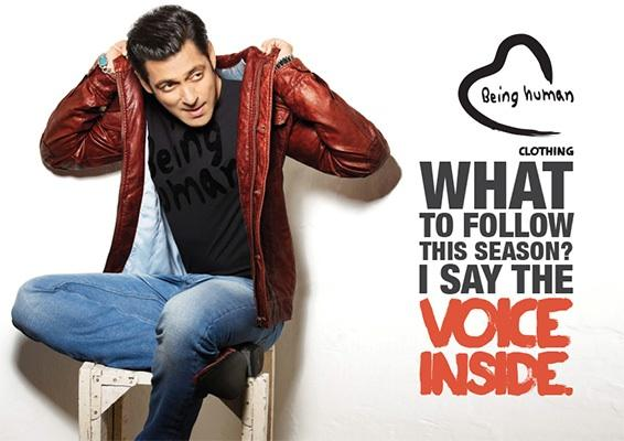 Salman Khans Photoshoot For Being Human Summer 2013 Collection