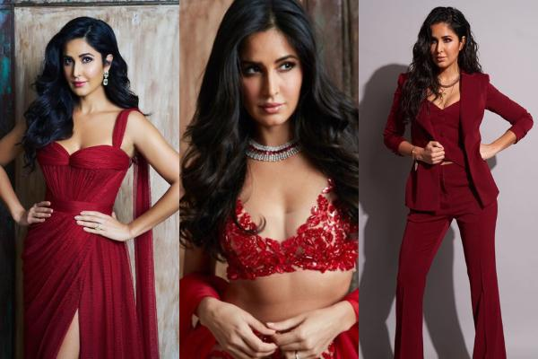Katrina Kaif nails the RED colour outfits and shows us how to rock them; Check it out
