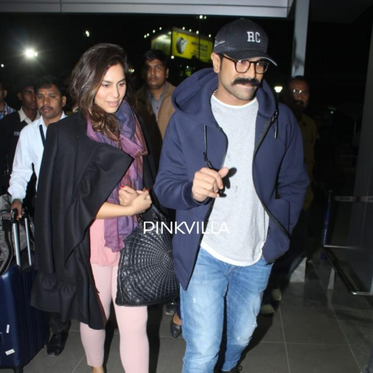 PHOTOS: Ram Charan and wife Upasana keep it stylish as they head out for a vacation