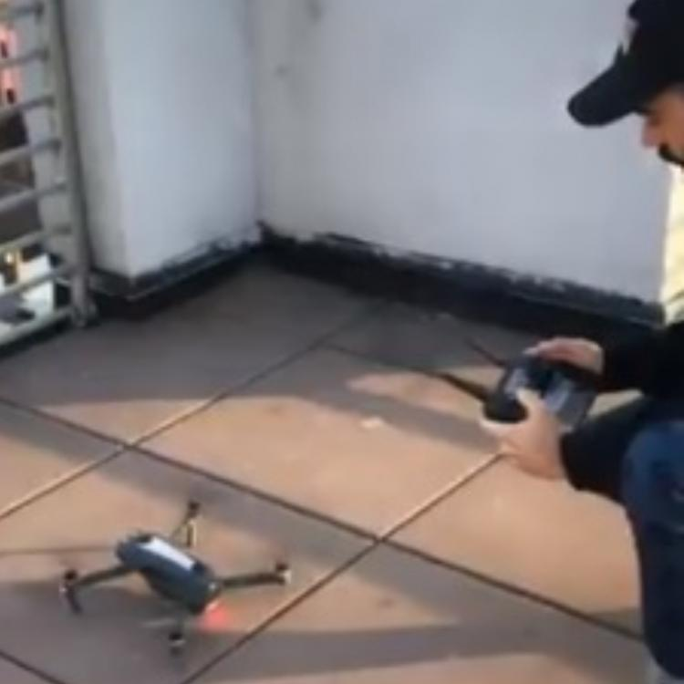 US man breaks the internet by sending a drone to a girl with his phone number amid social distancing; WATCH