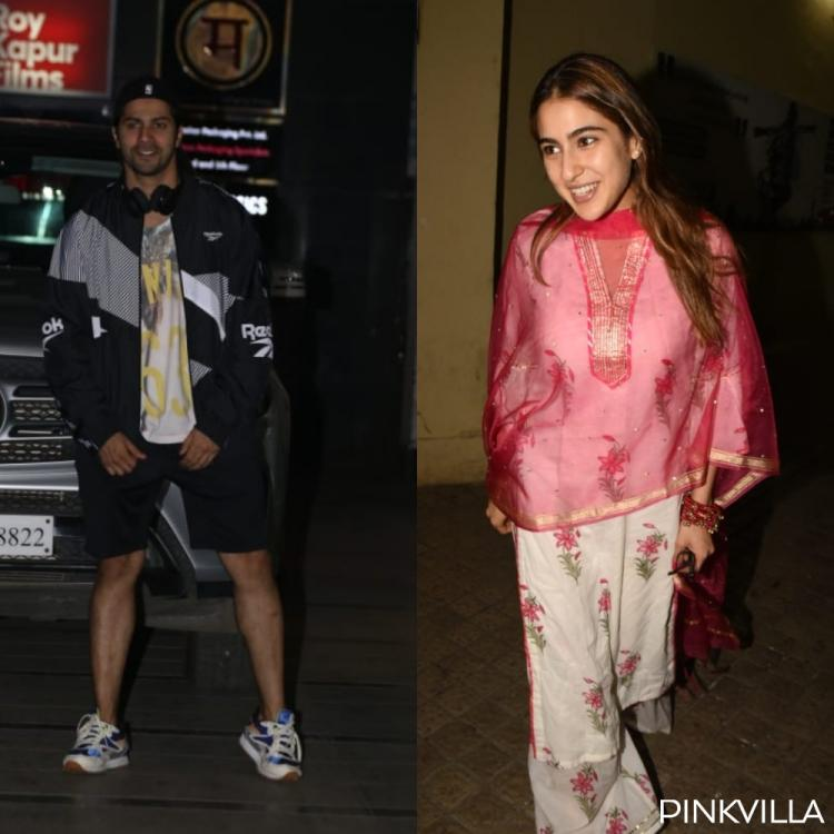 PHOTOS: Sara Ali Khan is all smiles as she steps out of a movie hall; Varun Dhawan gets papped outside the gym