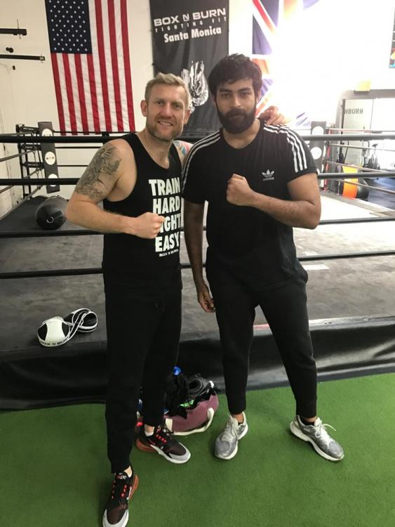 Varun Tej trains hard with Olympic boxer Tony Jeffries for his next sports drama