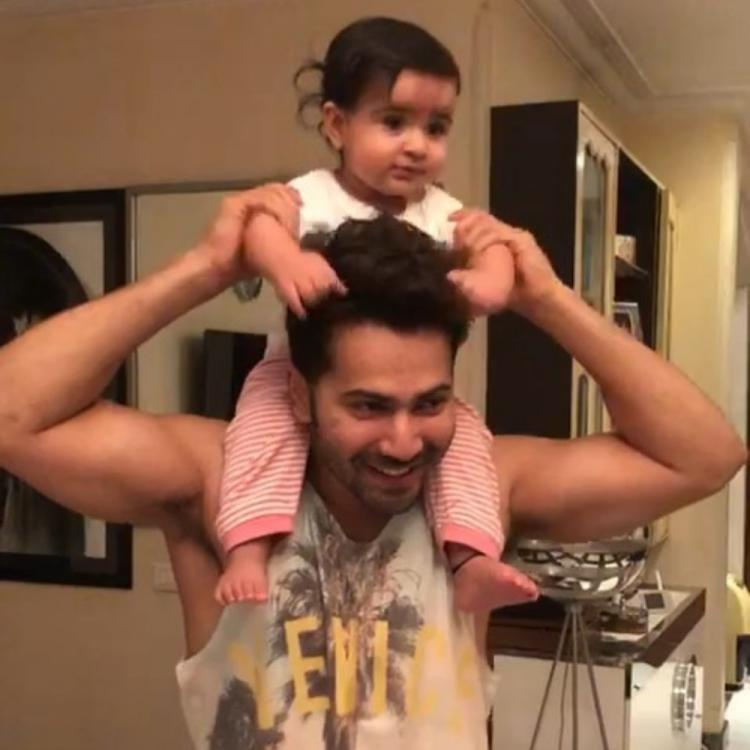 Varun Dhawan plays with his adorable niece and Arjun Kapoor calls them 'Chachu & Beti number 1'; Watch Video