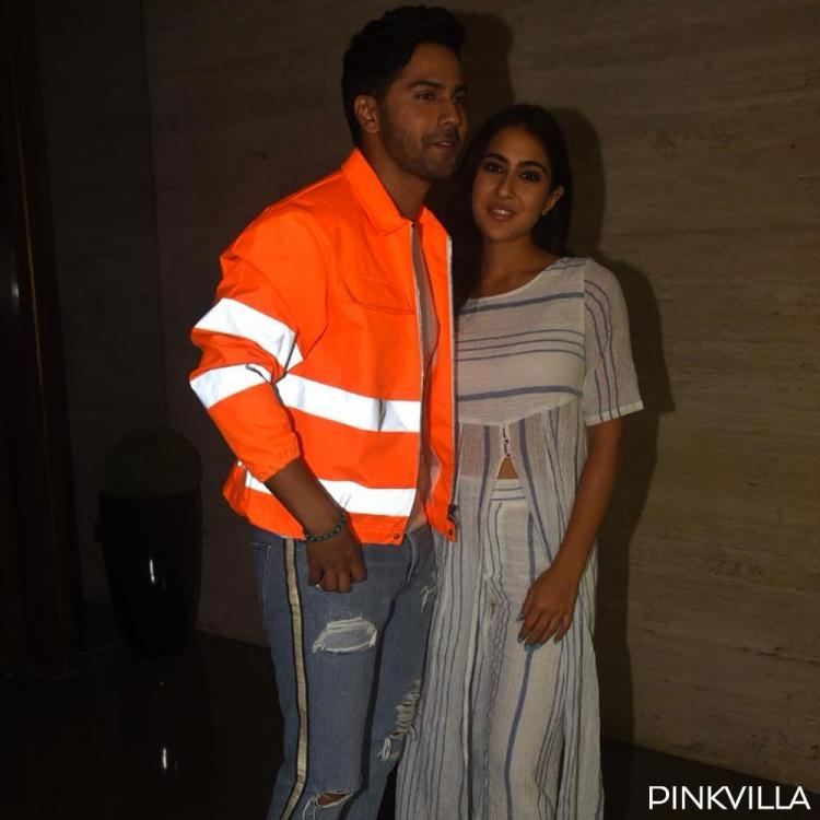 PHOTOS: Coolie No. 1 couple Varun Dhawan and Sara Ali Khan flaunt their flawless smile as they pose together