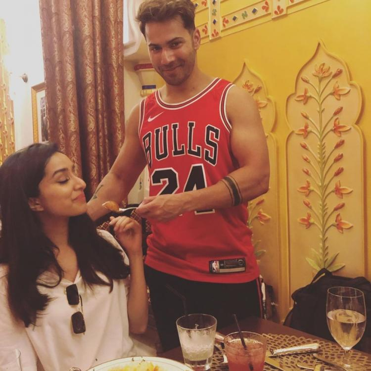 Street Dancer 3D: Varun Dhawan forcefully making Shraddha Kapoor ditch her diet is beyond adorable; See Pic