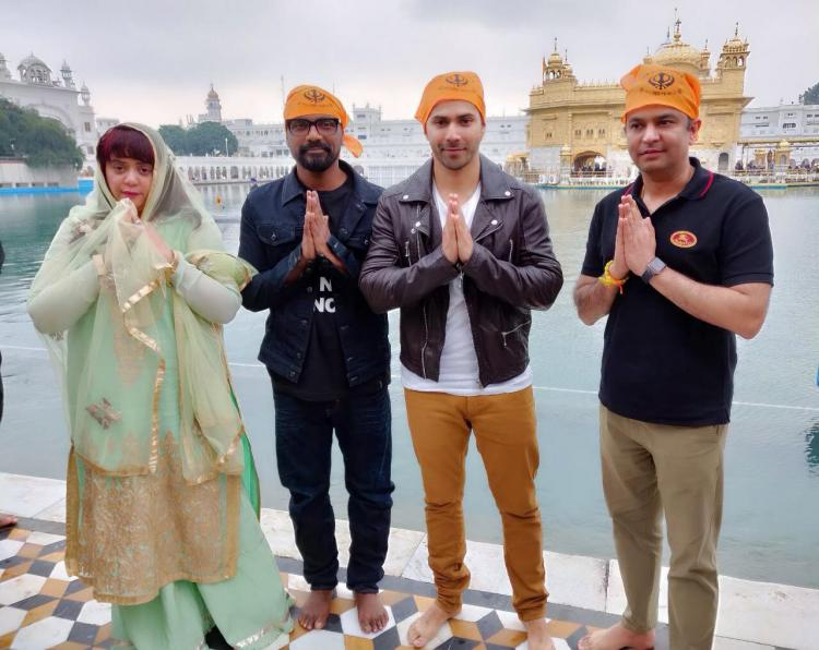 Varun Dhawan begins shooting for Remo D'Souza's film in Punjab; visits the Golden Temple to seek blessings