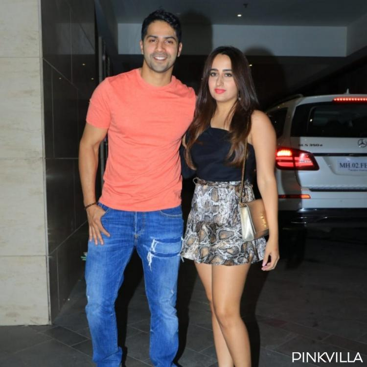 PHOTOS: Varun Dhawan and girlfriend Natasha Dalal pose for the paparazzi as they arrive at a party