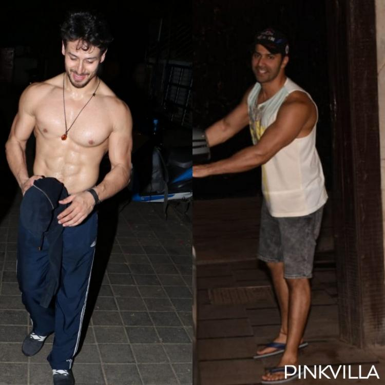 PHOTOS: Tiger Shroff goes shirtless as he flaunts his abs; Varun Dhawan strikes a pose after the gym