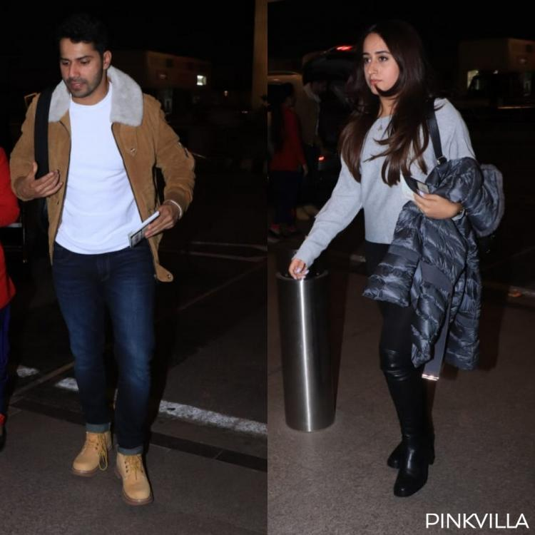 PHOTOS: Varun Dhawan and Natasha Dalal jet off to an undisclosed location for their New Year celebrations