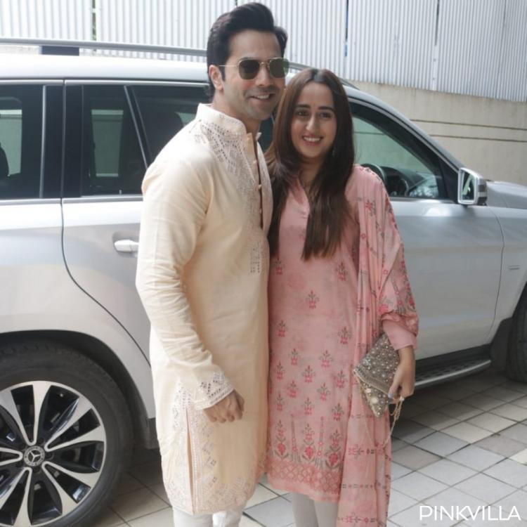 PHOTOS: Varun Dhawan and girlfriend Natasha Dalal dress their traditional best as they step out for Laxmi Puja