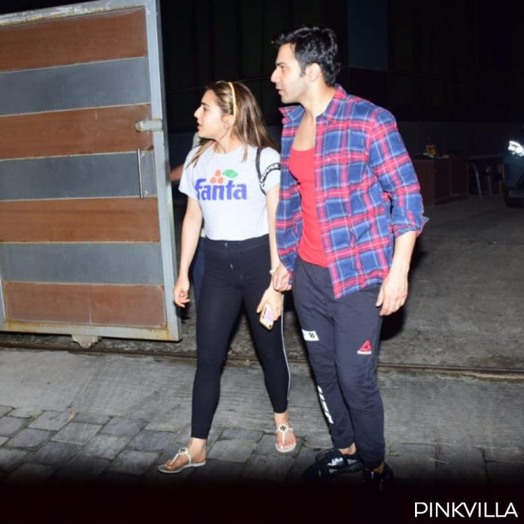 PHOTOS: Coolie No 1 actors Varun Dhawan & Sara Ali Khan step out together post dance rehearsals