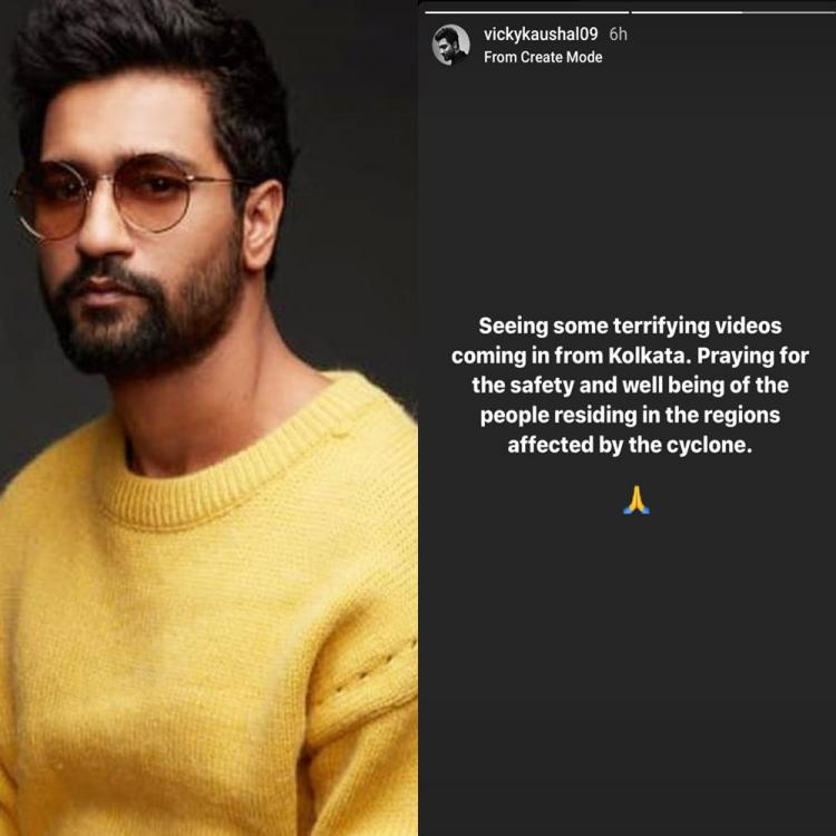Amphan: Vicky Kaushal prays for Kolkata's safety and well being as cyclone devastates the city