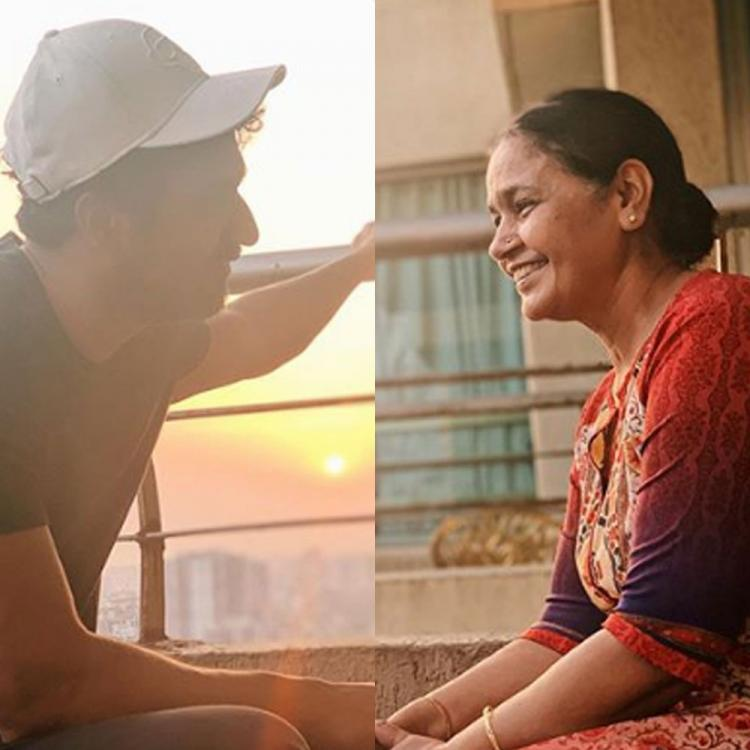 Vicky Kaushal enjoys a beautiful moment with his mother during lockdown & it's like every mother son duo ever
