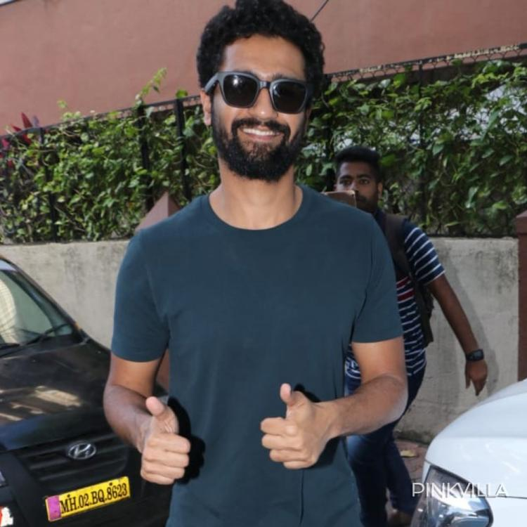 PHOTOS: Vicky Kaushal looks dapper as he poses for the camera in his teal green Tee