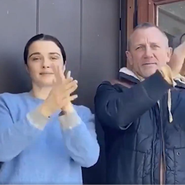Daniel Craig and Rachel Weisz showed their appreciation to the healthcare workers, in the UK, amidst the coronavirus outbreak.