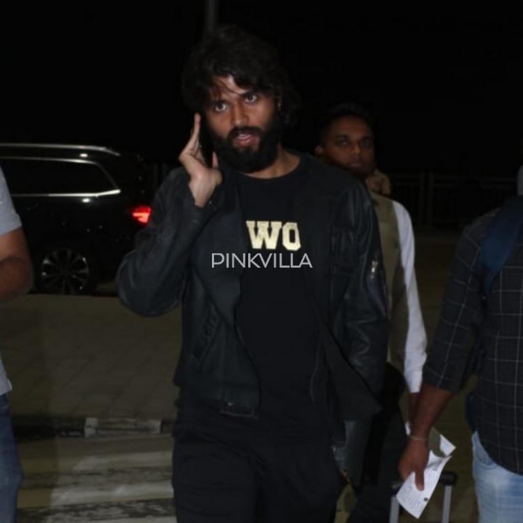 PHOTOS: It is phone o'clock for Vijay Deverakonda as dons an all black look for the airport