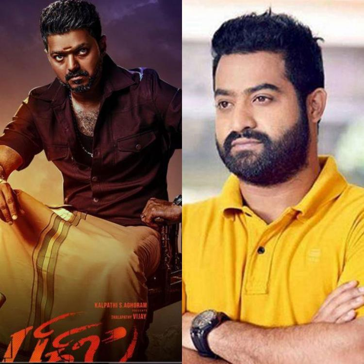 Jr NTR and Thalapathy Vijay discuss Bigil's success over a phone call; Read Details