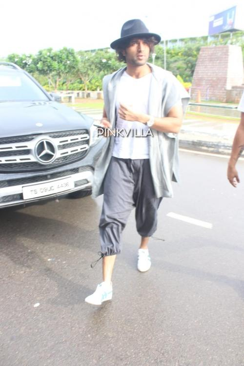 PHOTOS: Vijay Deverakonda clicked in comfortable athleisure & a cool hat as he heads to Dubai for a vacation
