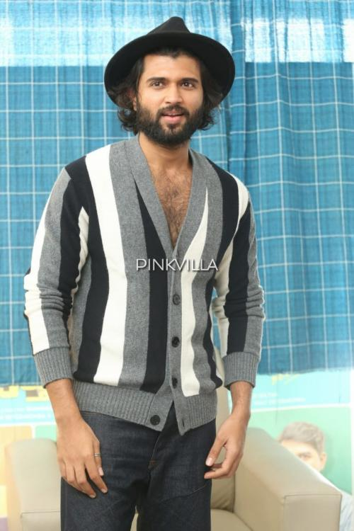Vijay Deverakonda channels his inner 'cool dude' in a stripe sweater and a fedora