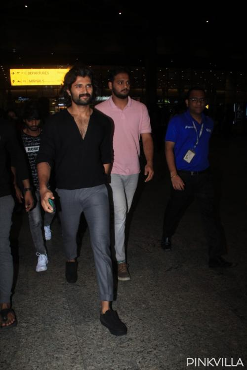PHOTOS: Vijay Deverakonda spotted at Mumbai airport as he arrives for the shooting of Puri Jagannadh's Fighter