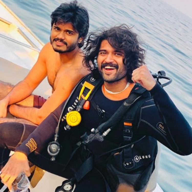 PHOTOS: Vijay Deverakonda prepares to ring in the New Year with brother Anand at Dubai