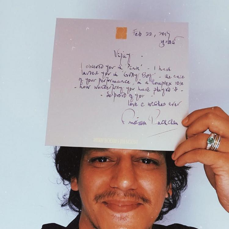 Gully Boy Vijay Varma is over the moon after getting a handwritten letter from Amitabh Bachchan; Read Details