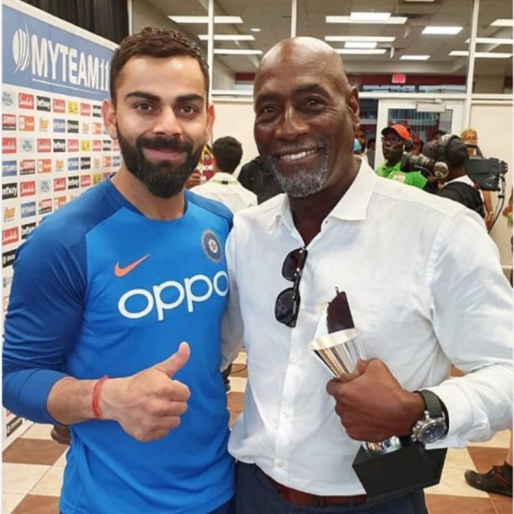 Virat Kohli has a fan boy moment as he shares a PIC with Sir Vivian Richards; Ranveer Singh leaves a comment