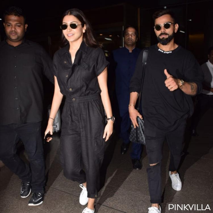 PHOTOS: Virat Kohli and Anushka Sharma look classy as they twin in black; Check it out