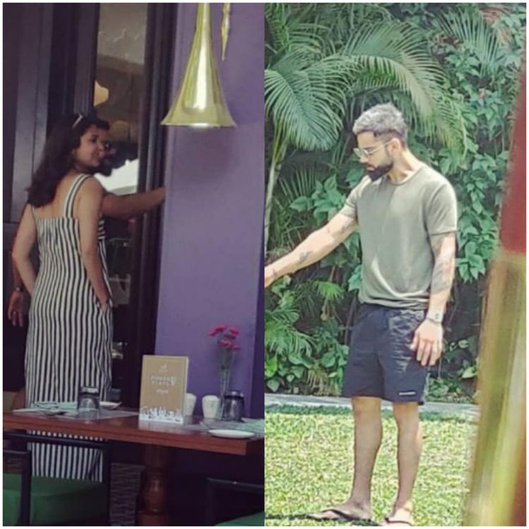 Virat Kohli and Anushka Sharma's pictures lunching with AB De Villiers & family are all over the internet