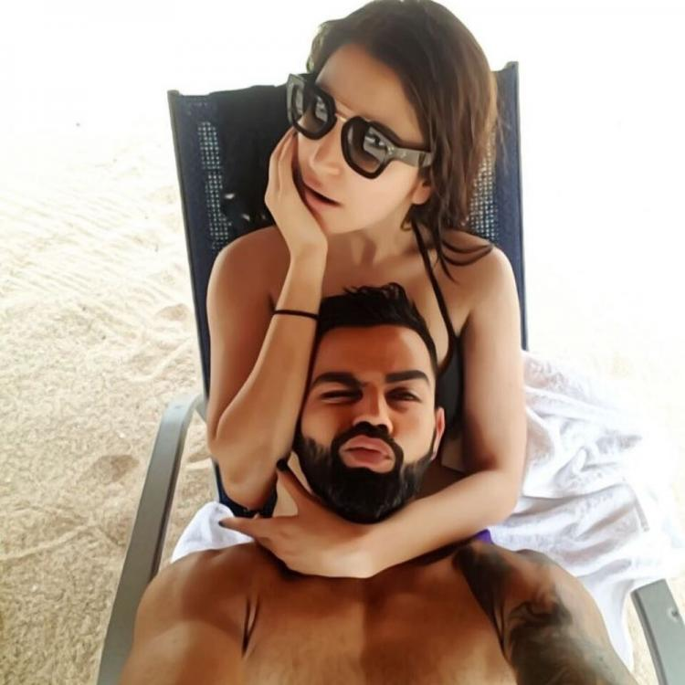 Anushka Sharma and Virat Kohli chill at a beach and we can't stop swooning over their goofy selfie; See Pic