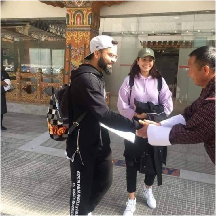 PHOTO: Anushka Sharma & Virat Kohli are all smiles as they escape to Bhutan for a much needed vacay
