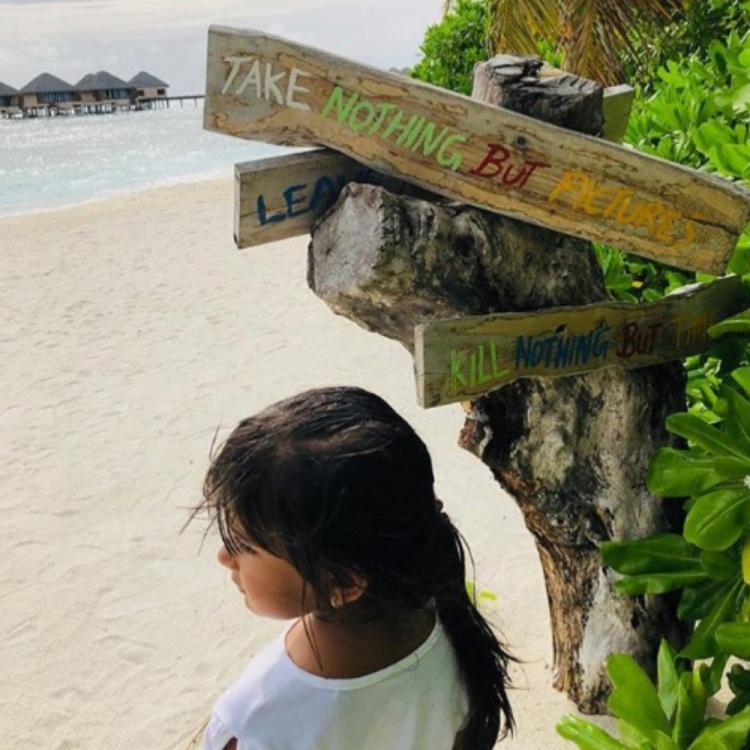 Vivek Oberoi shares an adorable picture of daughter Ameyaa enjoying the scenic beauty on a beach; View PIC