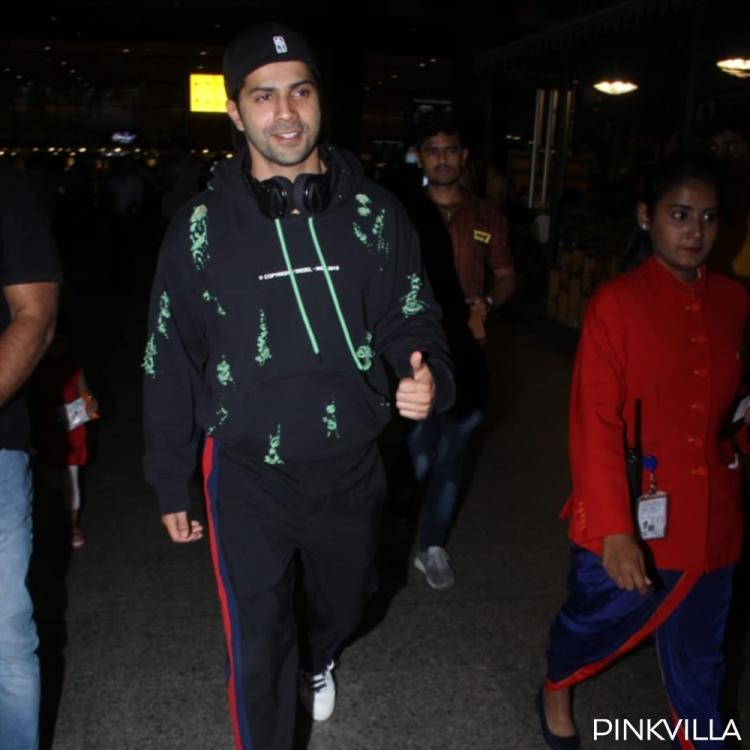 PHOTOS: Varun Dhawan shows off his swag and displays a cool outfit at the airport