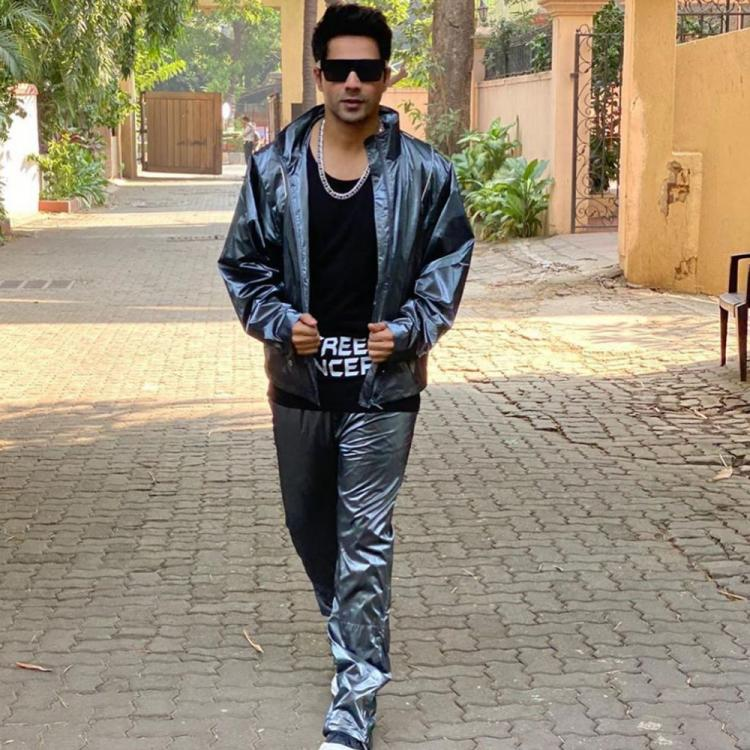Varun Dhawan dons a metallic silver tracksuit as he gets into the Street Dancer mode; See Pics
