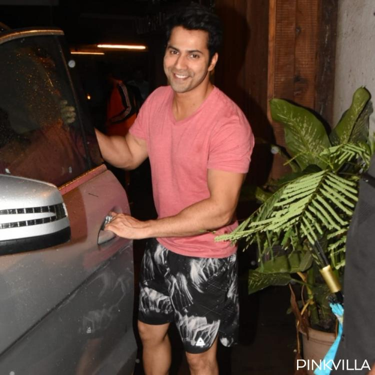 PHOTOS: Varun Dhawan is all smiles as he steps out in the city amidst rains