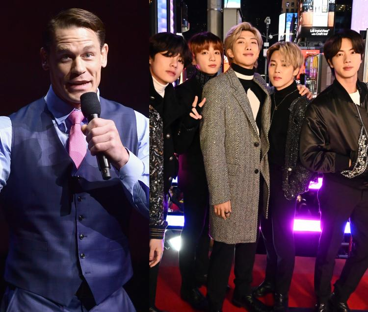 John Cena praises BTS' inspiring and powerful message of self-love and self-reflection in their music.