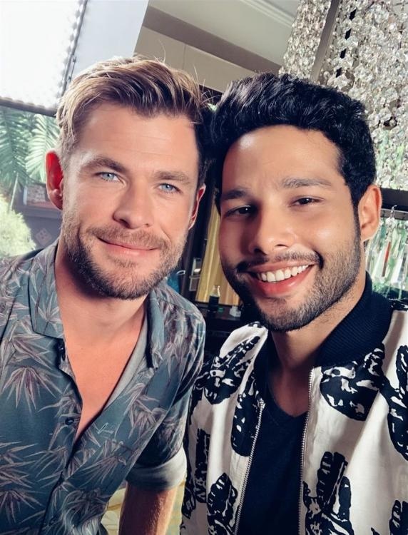 Siddhanth Chaturvedi had a special self-written rap prepared for Chris Hemsworth and Men in Black: International.