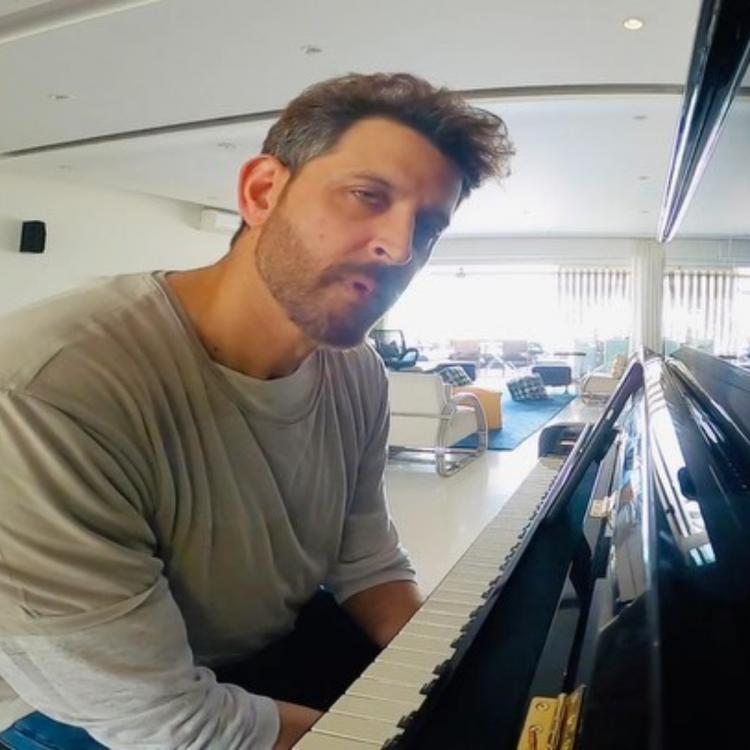 WATCH: Hrithik Roshan takes up piano lessons while Sussanne Khan surveys his home amid COVID 19 lockdown
