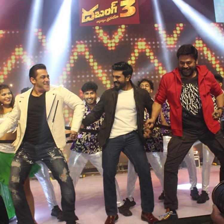 WATCH: Ram Charan, Salman Khan & Venkatesh dancing to Munna Badnaam Hua song is one EPIC moment