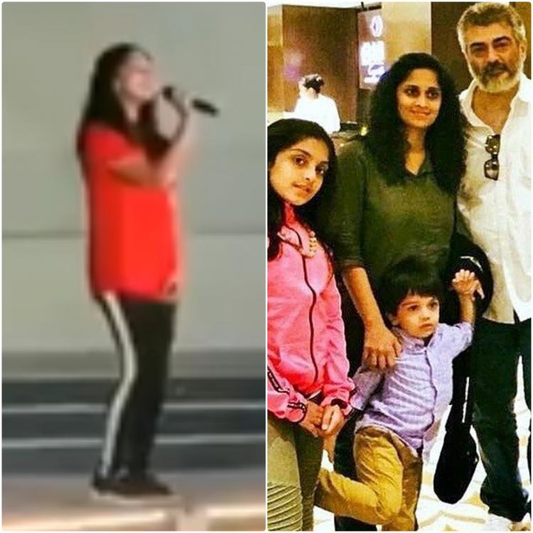 WATCH: Thala Ajith's daughter Anoushka Kumar singing at Christmas celebration in school is enchanting