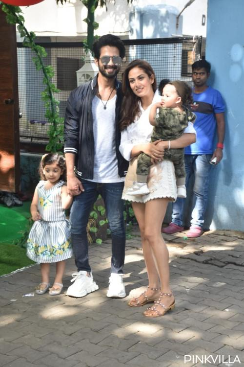 PICS: Birthday girl Misha Kapoor makes for a lovely picture as she poses with Shahid, Mira & baby brother Zain