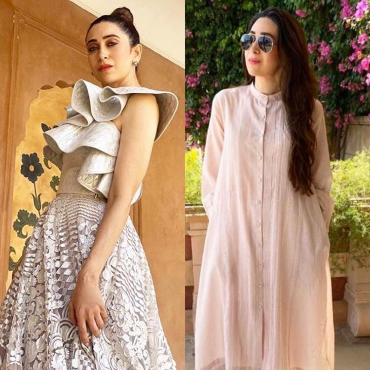 Karisma Kapoor's outfits will take you from a fancy cocktail to an easy breezy mehendi look in a jiffy