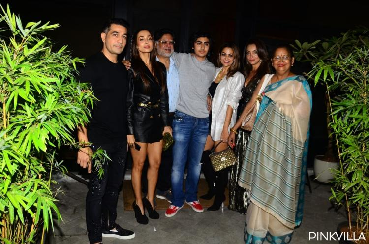 PICS: Malaika Arora shimmers in black as the family joins her for the birthday bash of son Arhaan Khan
