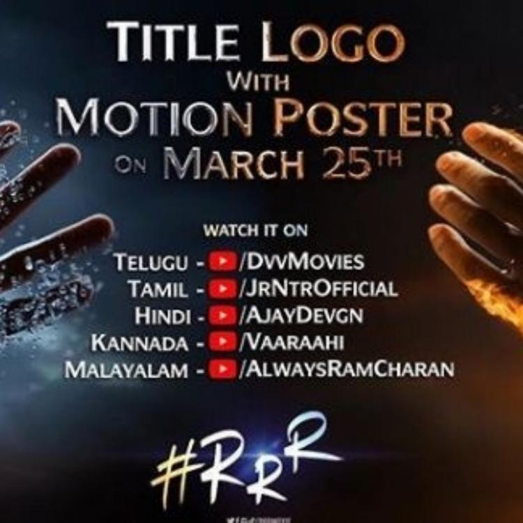 Ram Charan and Jr NTR starrer RRR motion poster all set to be UNVEILED tomorrow