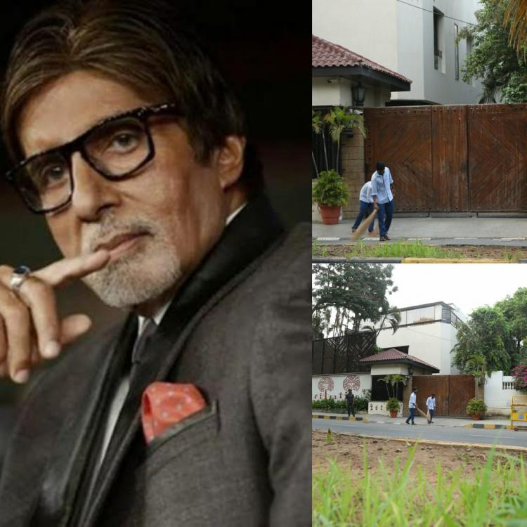 Amitabh Bachchan thanks the cleaning staff outside his bungalow