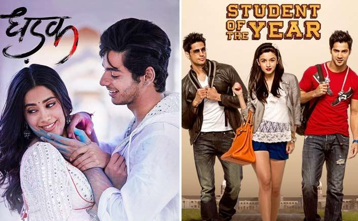 Image result for latest images of dhadak movie vs. student of the year