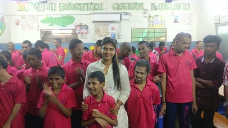 PHOTOS: World Famous Lover actress Aishwarya Rajesh celebrates her birthday with special kids